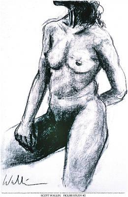 Figure Study Two Art Print by Scott Wallin