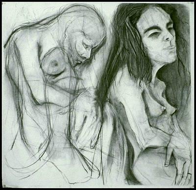 Drawing - Figure Study2 by Michelle Spiziri