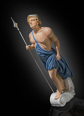 Photograph - figurehead of  Apollo by Gary Warnimont