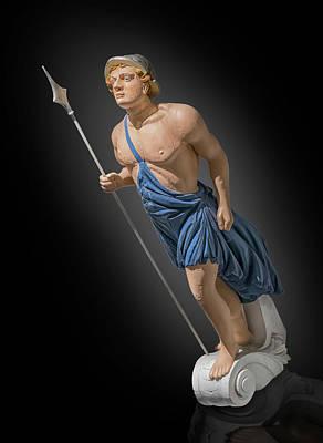 Photograph - figurehead of  Apollo by Gary Warnimont