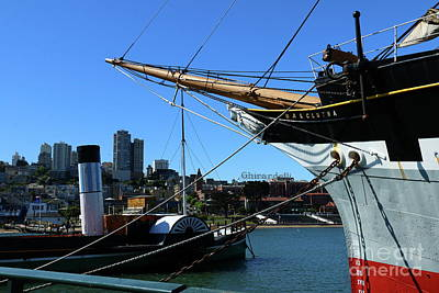 Photograph - Figurehead Of Balclutha And Cityview by Christiane Schulze Art And Photography