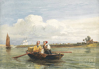 Figure Painting - Figures In A Boat On The Thames, Gravesend by Celestial Images