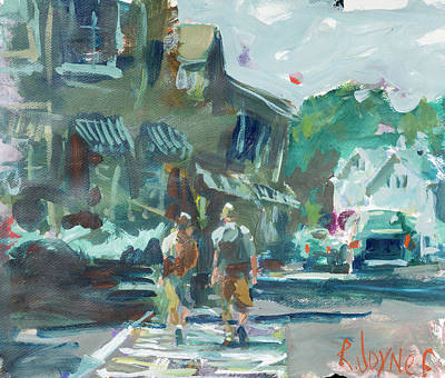 Painting - Figures In Maine by Robert Joyner