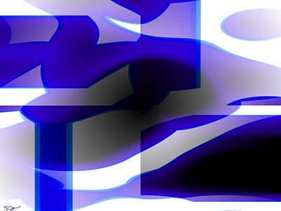 Abstract Digital Art - Figures In Love by Abstract Angel Artist Stephen K