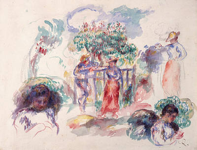 Painting - Figures Under A Tree by Auguste Renoir