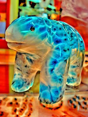 Figurine. Larimar. Dominican Republic.  Original