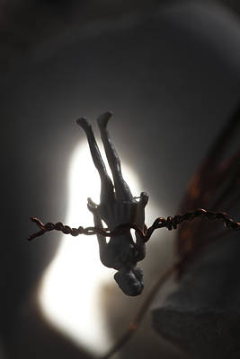 Impersonal Photograph - Figurine Of A Woman Hanging Upside Down by Ulrich Kunst And Bettina Scheidulin