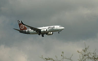 Photograph - Fiji Airways Inbound by E Faithe Lester