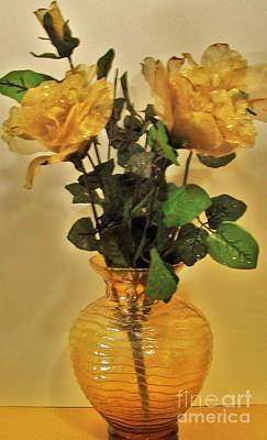 Gold Roses Photograph - Filagree Gold Roses by Marsha Heiken