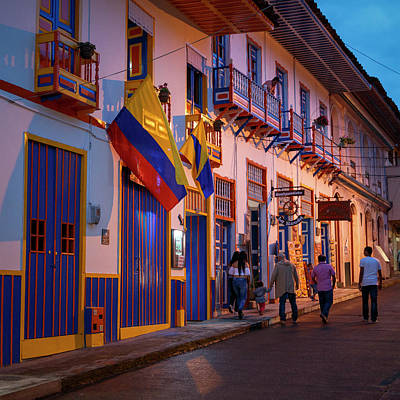 Photograph - Filandia Colombia Colonial Architecture by Adam Rainoff