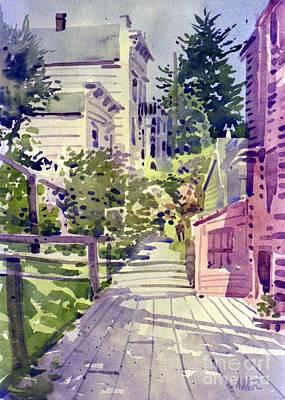 Filbert Street Stairs Art Print by Donald Maier