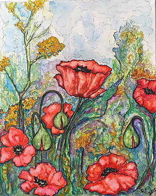 Painting - Filed Of Flowers #1 by Rae Chichilnitsky