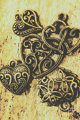 Necklace Photograph - Filigree Love by Jorgo Photography - Wall Art Gallery