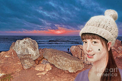 Filipina Beauty At The Beach During Sunset Art Print