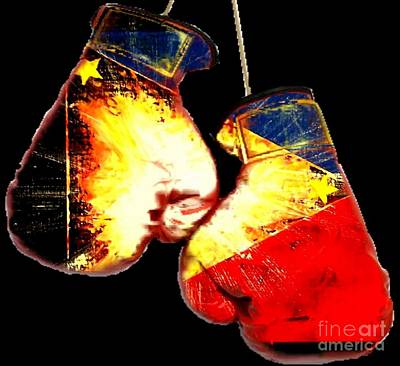 Boxer Painting - Filipino Boxer by Teo Alfonso