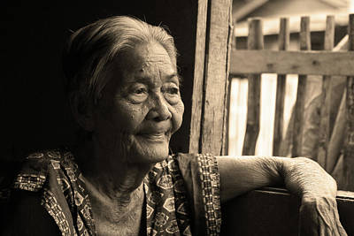 Filipino Lola - Image 14 Sepia Art Print by James BO  Insogna