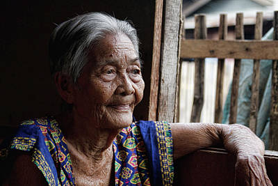 Photograph - Filipino Lola - Image Number Fourteen  by James BO Insogna