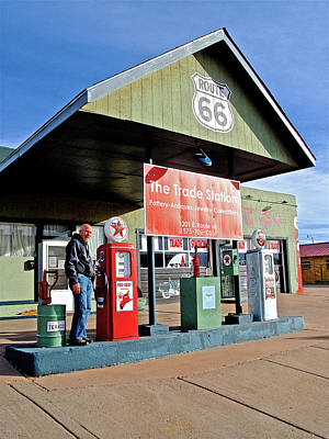 Ers Fine Art Photograph - Fill 'er Up At Texaco On Historic Route 66 In Tucumcari, New Mexico by Ruth Hager