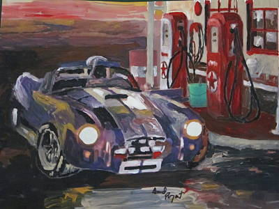 Fill Er Up Art Print by David Poyant Paintings