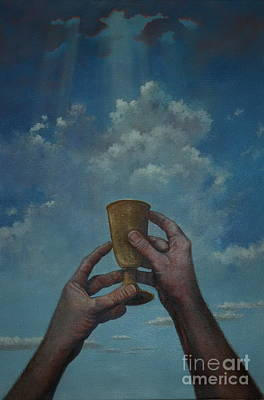 Painting - Fill My Cup Lord by Michael Nowak