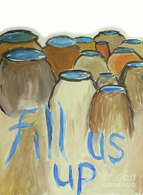 Water Jars Digital Art - Fill Us Up by Curtis Sikes