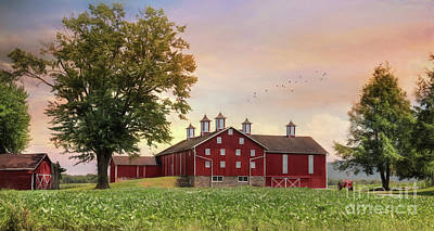 Fill Your Barns With Plenty Art Print