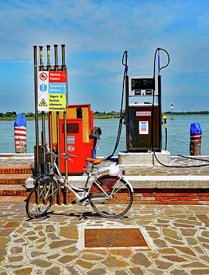 Photograph - Fill'er Up On The Island Of Burano In Venice, Italy  by Richard Rosenshein