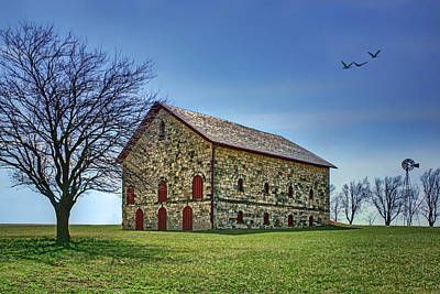 Photograph - Filley Barn - Windmill by Nikolyn McDonald