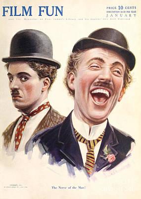 Film Fun Classic Comedy Magazine Featuring Charlie Chaplin 1916 Art Print by R Muirhead Art