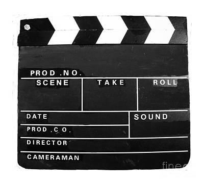 Photograph - Film Movie Video Production Clapper Board  by Tom Conway