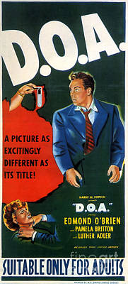Painting - Film Noir Movie Poster D O A by R Muirhead Art