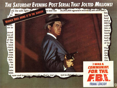Painting - Film Noir Movie Poster I Was A Communist For The Fbi by R Muirhead Art