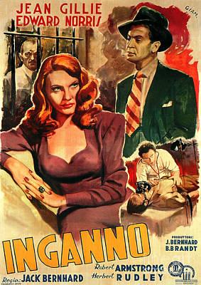 Painting - Film Noir Movie Poster Inganno by R Muirhead Art