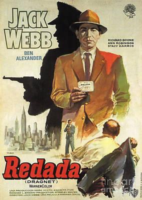 Painting - Film Noir Movie Poster Redada Jack Web by R Muirhead Art