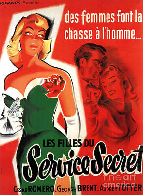 Painting - Film Noir Movie Poster Service Secret by R Muirhead Art