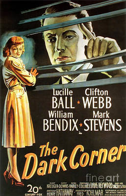 Painting - Film Noir Movie Poster The Dark Corner by R Muirhead Art