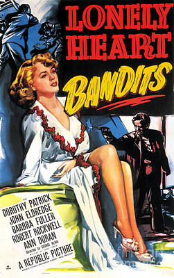 Painting - Film Noir Poster Lonely Heart Bandits by R Muirhead Art