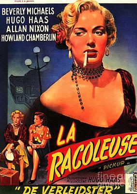 Painting - Film Noir Poster   Pickup 1951 by R Muirhead Art