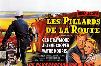 Painting - Film Noir Poster   Plunder Road by R Muirhead Art