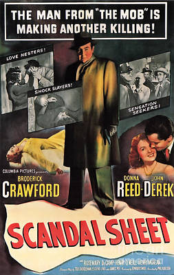 Painting - Film Noir Poster  Scandal Sheet by R Muirhead Art