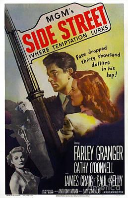 Painting - Film Noir Poster  Side Street by R Muirhead Art