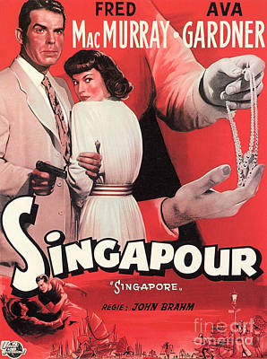 Painting - Film Noir Poster  Singapore by R Muirhead Art