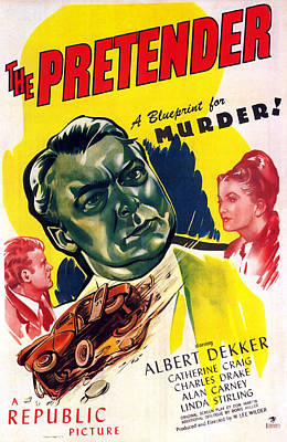 Painting - Film Noir Poster  The Pretender by R Muirhead Art