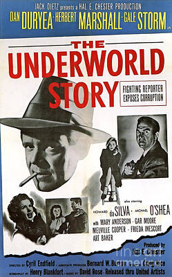 Catherine Howard Painting - Film Noir Poster   The Underworld Story by R Muirhead Art