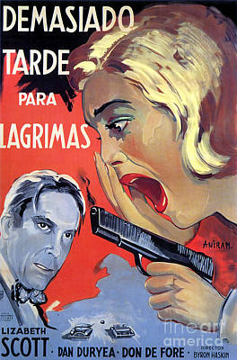 Painting - Film Noir Poster Too Late For Tears by R Muirhead Art