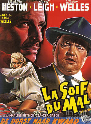 Painting - Film Noir Poster  Touch Of Evil by R Muirhead Art