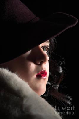 Film Noir Woman Art Print by Amanda Elwell