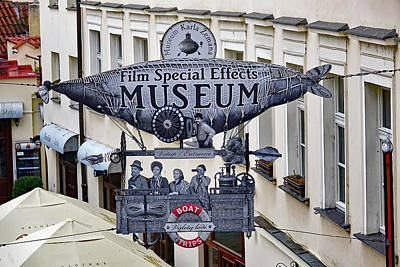 Photograph - Film Special Effects Museum Signage In Prague by Richard Rosenshein