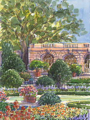 Painting - Filoli Garden House by Judith Kunzle