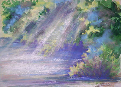 Water Filter Painting - Filtered Light by Becky Chappell
